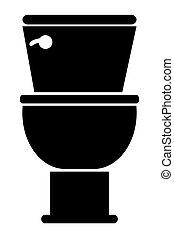 black toilet icon - black and white toilet icon vector...