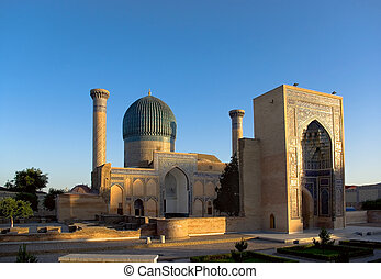 Mausoleum of Tamerlane Timur - Guri Amir - mausoleum of the...