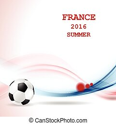 Euro Football Championship in France - Graphic vector...