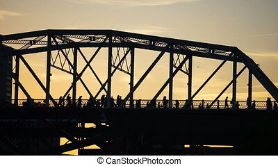 Nashville Foot Bridge People Cross to See