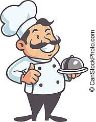 Happy Chef Mascot