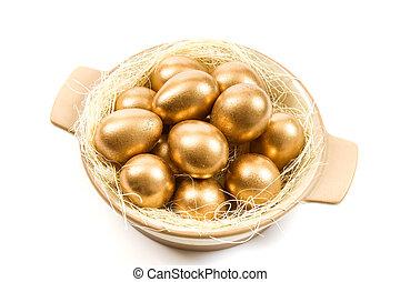 Golden easter egg.