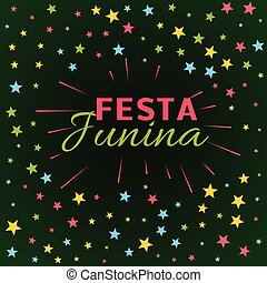 festa junina latin american holiday festival illustration