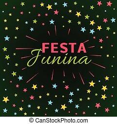 festa junina latin american holiday festival illustration
