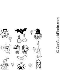 Costume Halloween in doodle