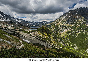 Five Lakes Valley vista from top summit. - Five Lakes Valley...