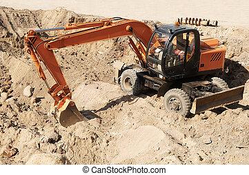 wheel excavator loader