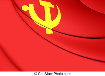 Flag of Chinese Communist Party - 3D Flag of Chinese...