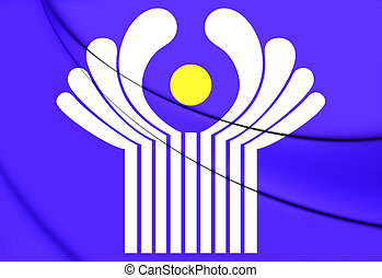 Commonwealth of Independent States Flag. 3D Illustration.