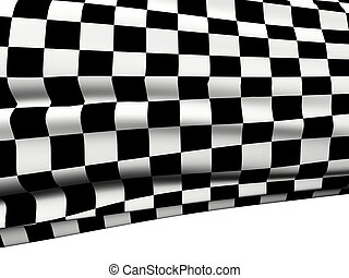 Checkered flag - Sports background - abstract checkered...