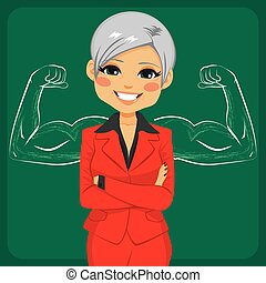 Strong Senior Business Woman