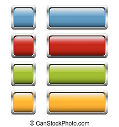 button collection 4 colors - collection of buttons with...