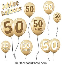jubilee balloons - golden jubilee balloons for 50 years in...