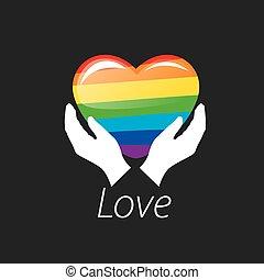 logo heart and rainbow - Rainbow heart. Conceptual design...