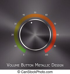 Volume button with metal texture (steel, chrome)