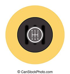 Manual Transmission flat icon Gear shifter icon