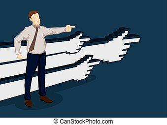 Business Direction Cartoon Vector Illustration