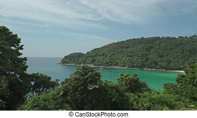 Phuket nature establishing shot, Thailand clip