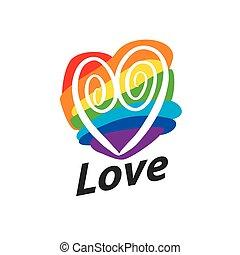 logo heart and rainbow - Rainbow heart Conceptual design for...