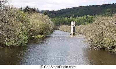 River Oich Fort Augustus Scotland UK Scottish Highlands...