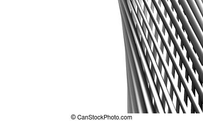 White Poles Abstract On White Text Space. Loop able 3DCG...