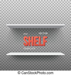 Realistic Vector Shelf. EPS10 Empty Shelf for Store, Exhibitions