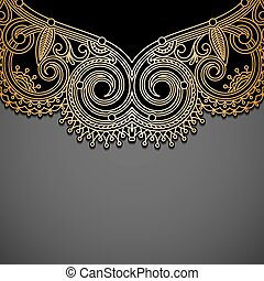 Vector background with gold vintage pattern.