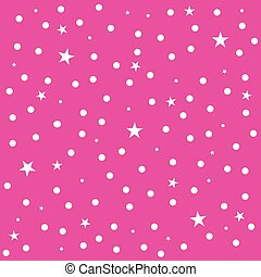 Star Polka Dot Pink Background