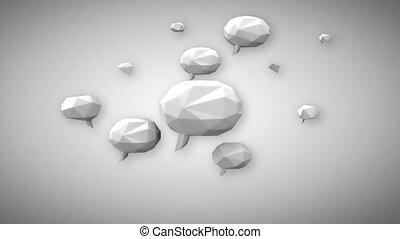Social media bubbles - Digital animation