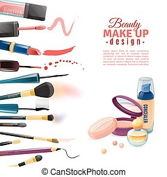 Cosmetics Beauty Make-up Design POster - Beauty makeup...