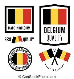 Made in Belgium label set