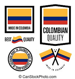 Made in Colombia label set