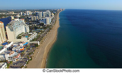 FORT LAUDERDALE - FEBRUARY 25, 2016: City aerial skyline on...