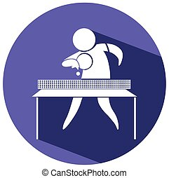 Sport icon for table tennis illustration