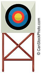 Shooting target on white background