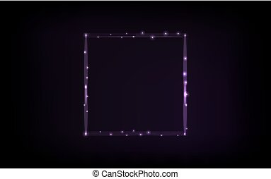 Abstract square frame on black background