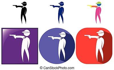 Sport icon for shooting gun