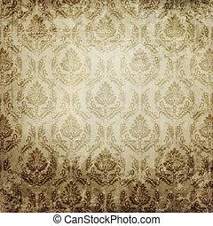 papper, Årgång, mönster, gammal, bakgrund