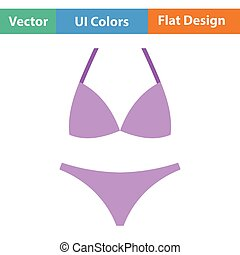 Bikini icon. Flat design. Vector illustration.