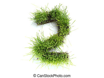 Numbers made of grass - 2