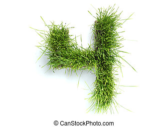 Numbers made of grass - 4