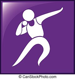 Sport icon for shot put throwing illustration