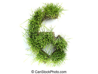 Numbers made of grass - 6