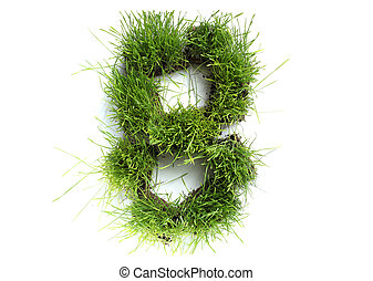 Numbers made of grass - 8