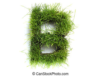 Letters made of grass - B