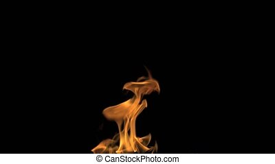 Fire Performer Blowing Fire Black Background - 4K Fire...