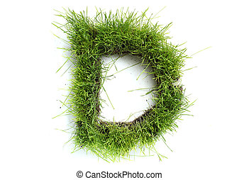 Letters made of grass - D