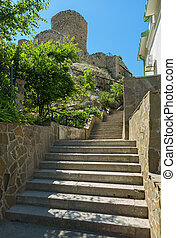 Genoese fortress Cembalo built beginning in 1357 Balaklava...