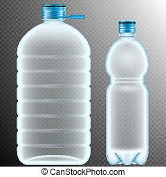 Plastic bottles Transparent EPS 10 - Plastic bottles...