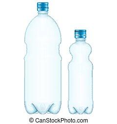 Plastic bottles EPS 10 - Plastic bottles isolated on white...